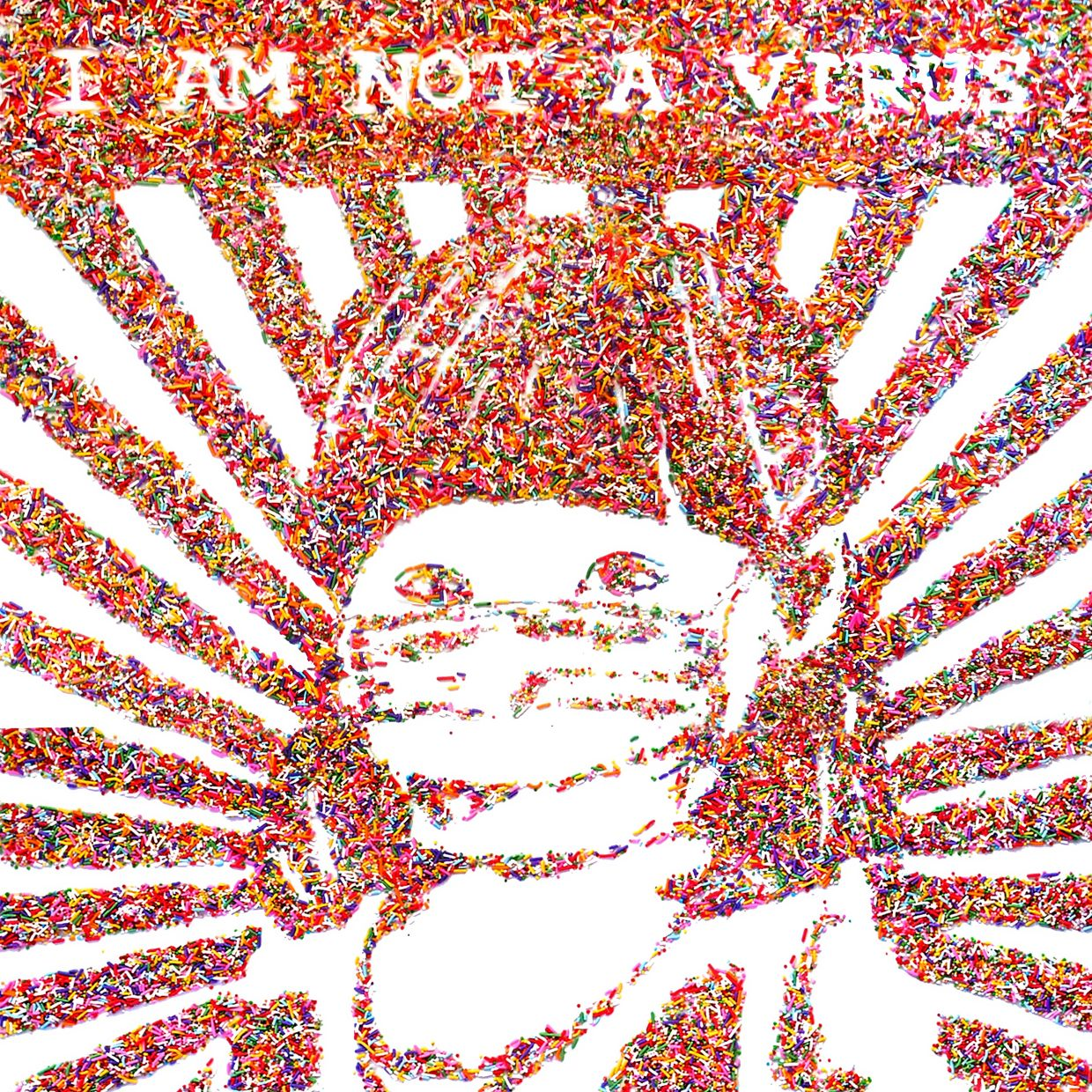 I am not a virus two year old girl
